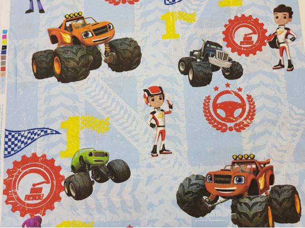 Bombažno platno-monster trucks